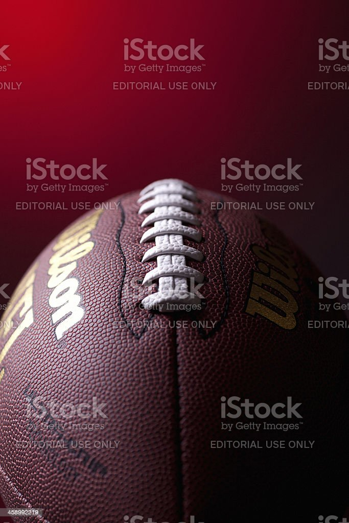American football ball stock photo
