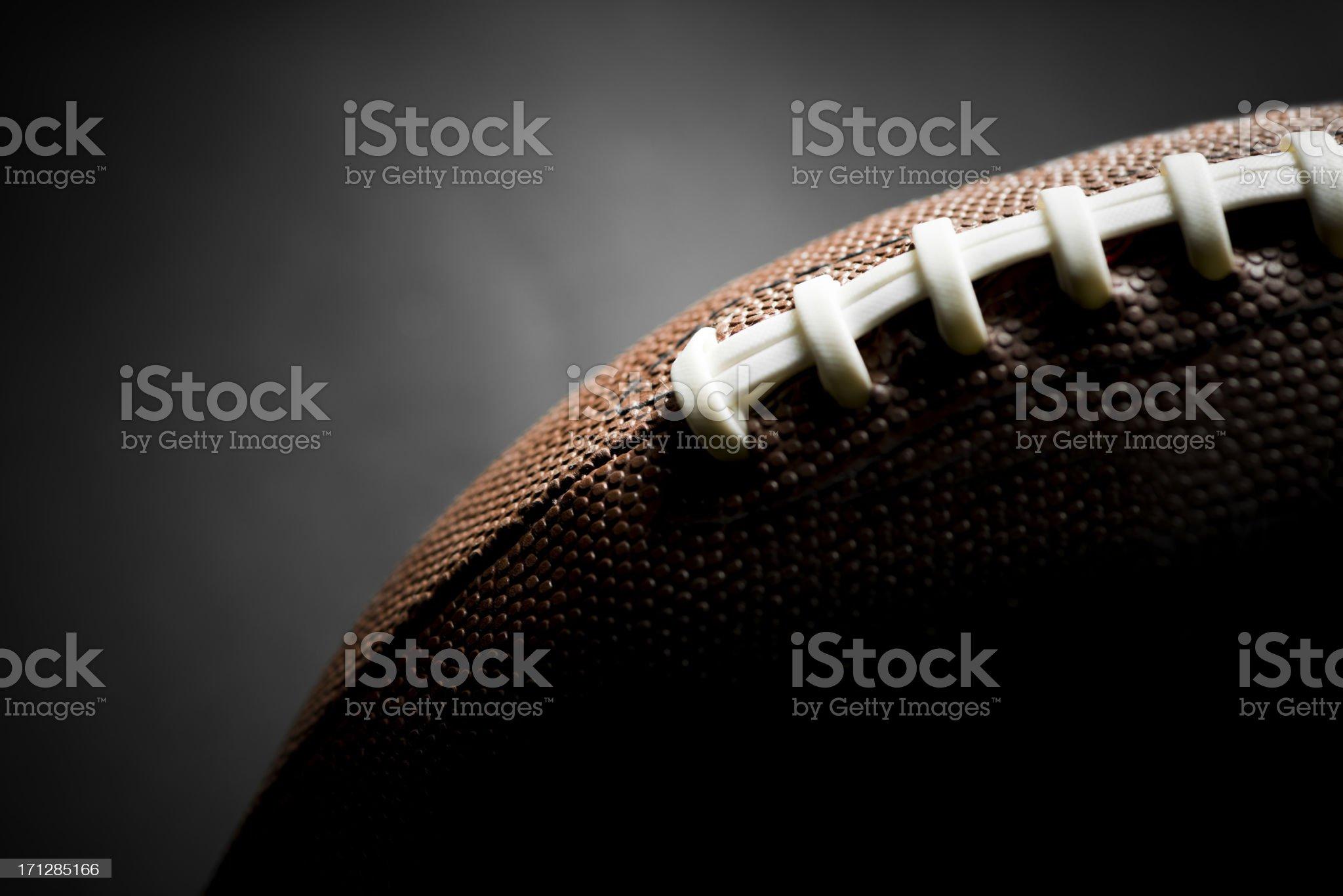 American Football, Black Background royalty-free stock photo