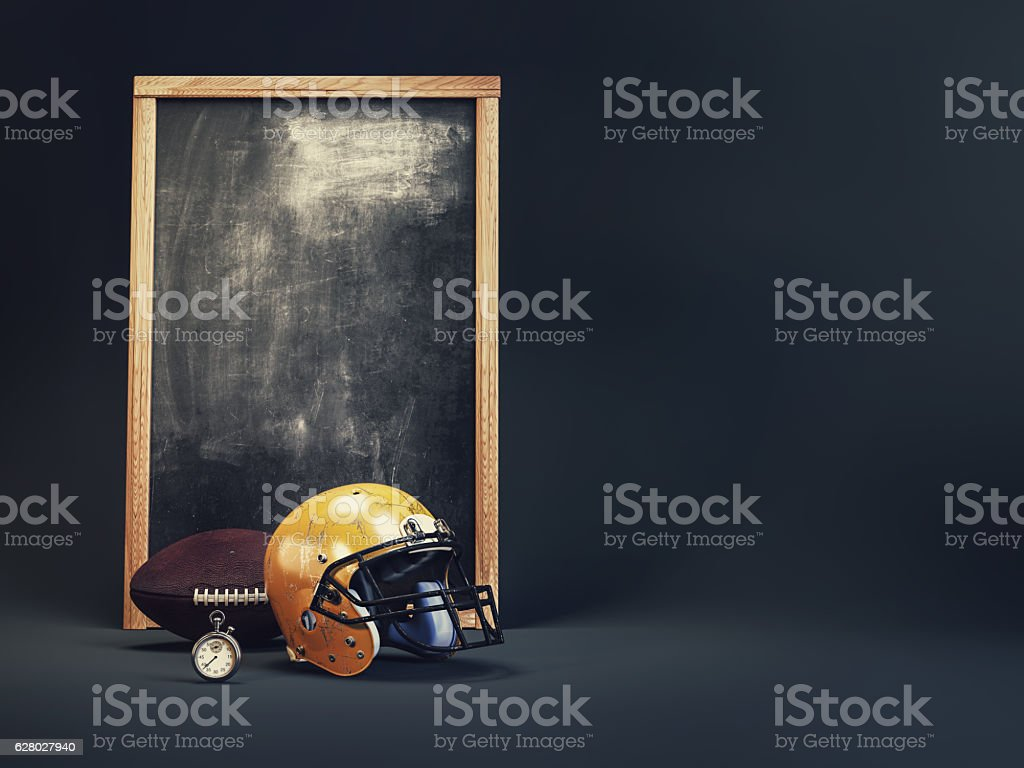 American Football classic. 3D Render and illustration. stock photo