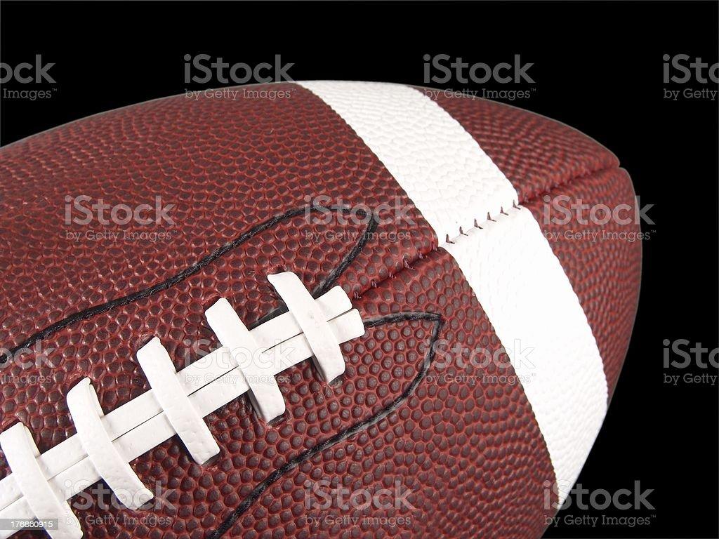 American Football Close Up stock photo