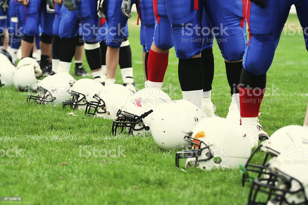 TEAM - American football concept royalty-free stock photo