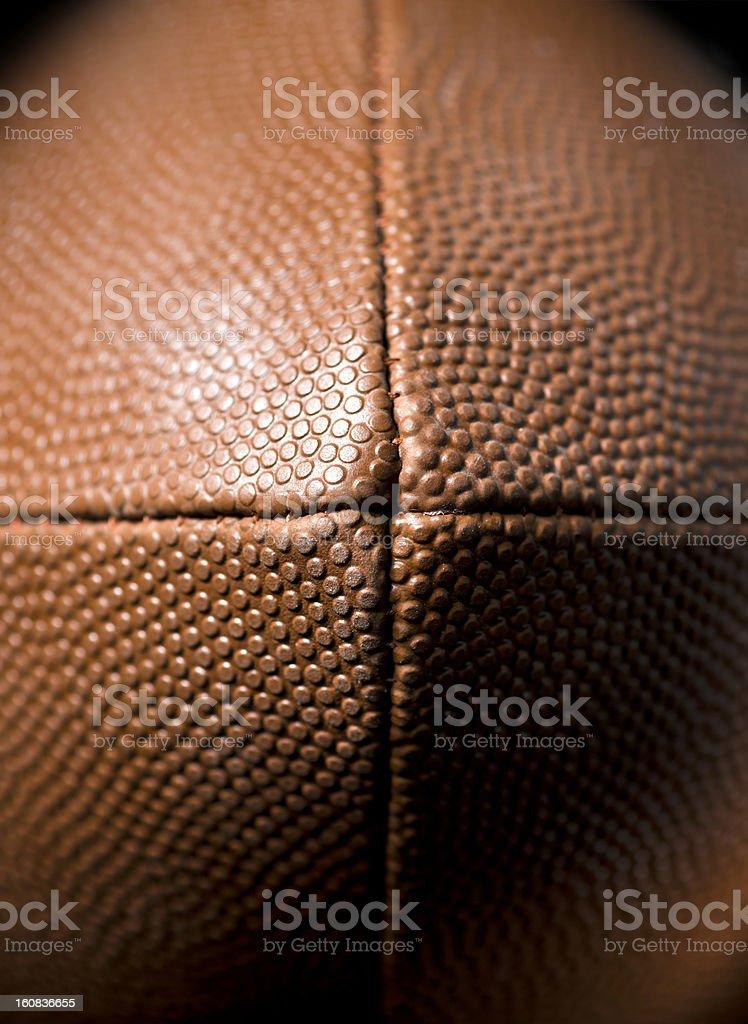 American football detail stock photo