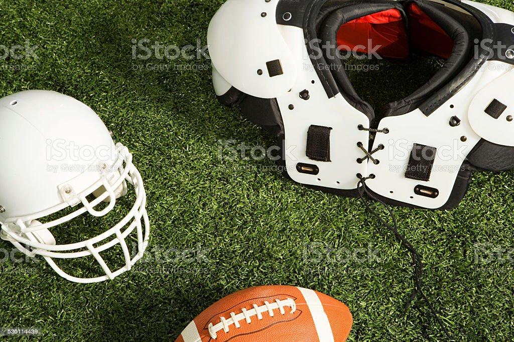 American football equipment stock photo