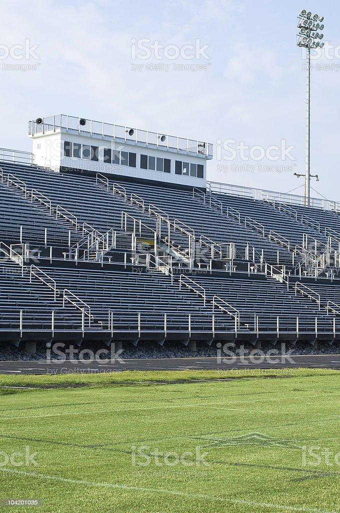 American Football Field at Football Game royalty-free stock photo