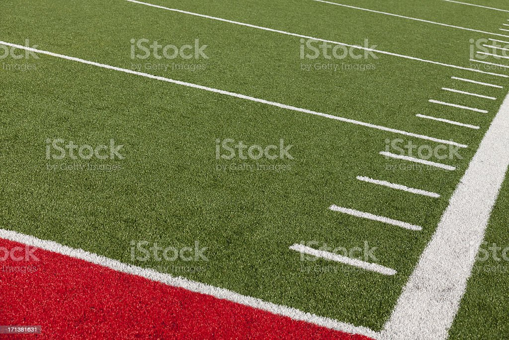 American Football Field Background stock photo