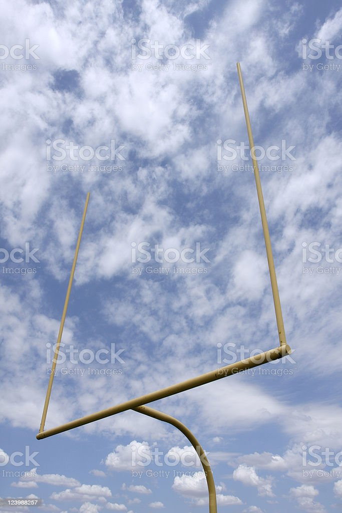 American Football Field Goal Posts royalty-free stock photo