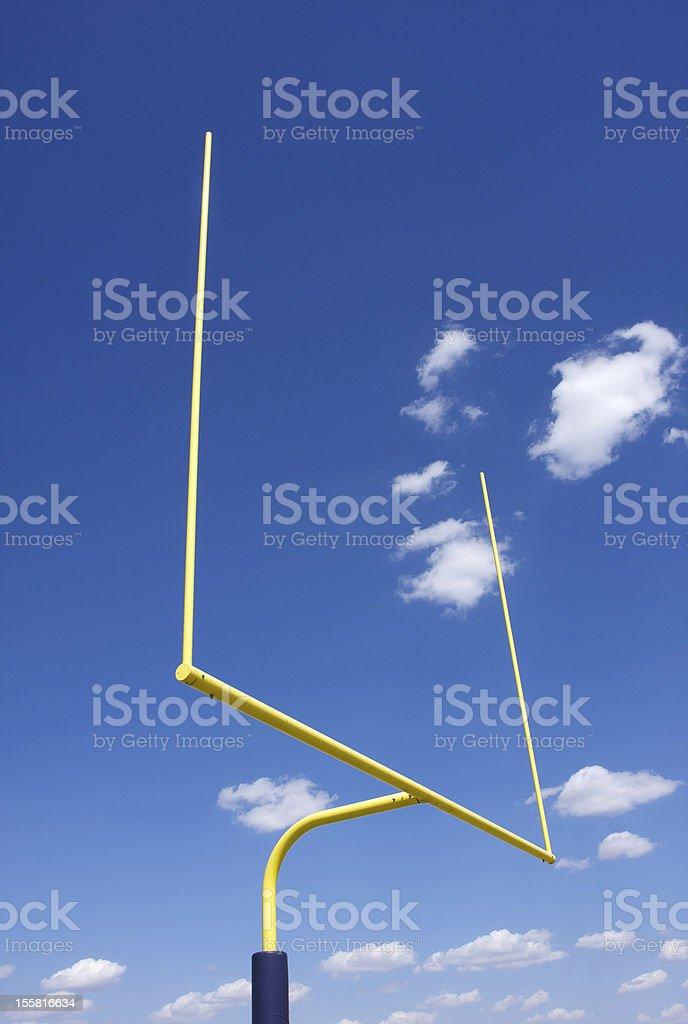 American Football Field Goal Posts stock photo