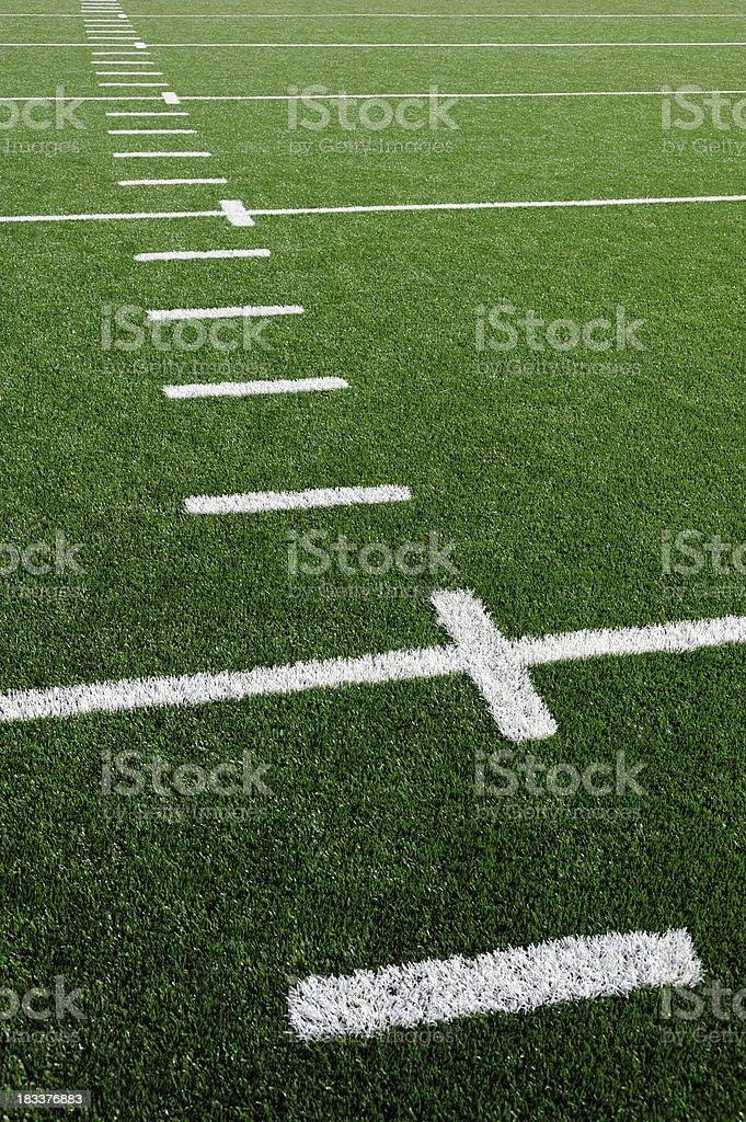 American Football Field Grass Turf royalty-free stock photo