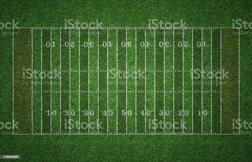 American Football Field on Grass stock photo