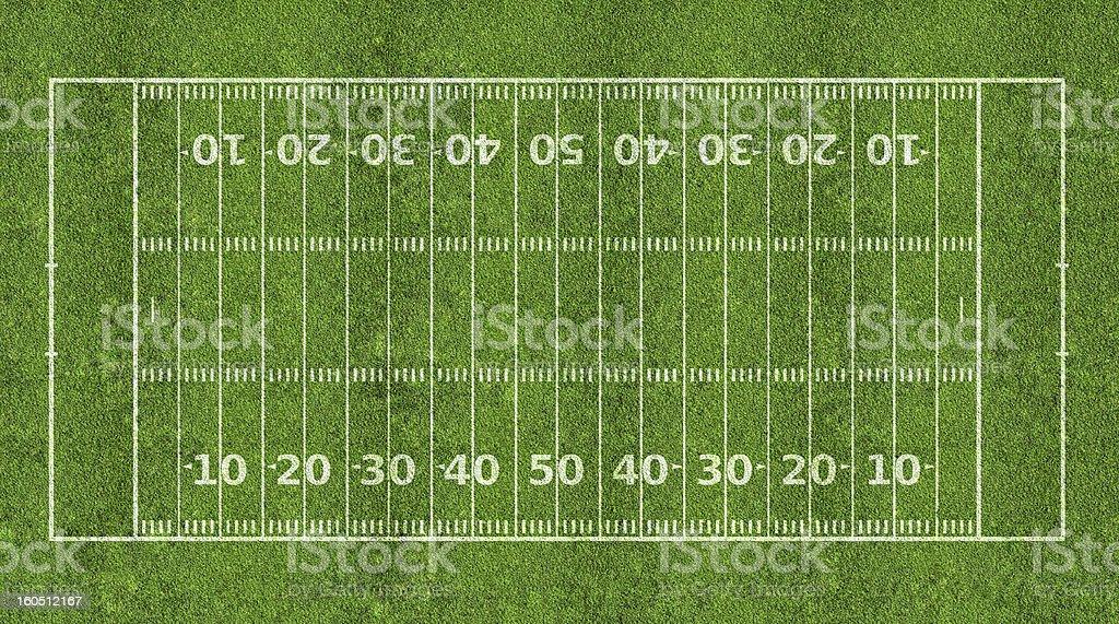 American football field stock photo