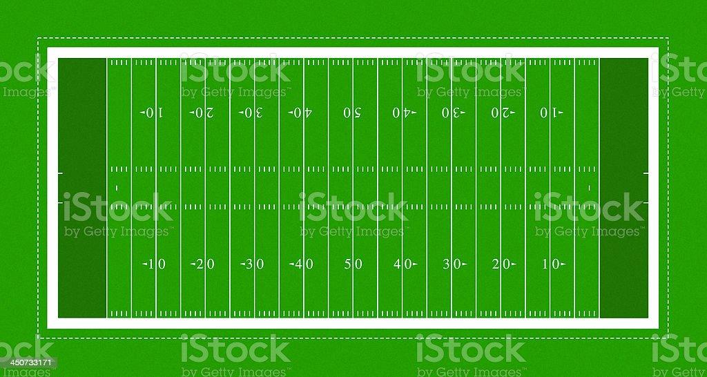 American football field royalty-free stock photo