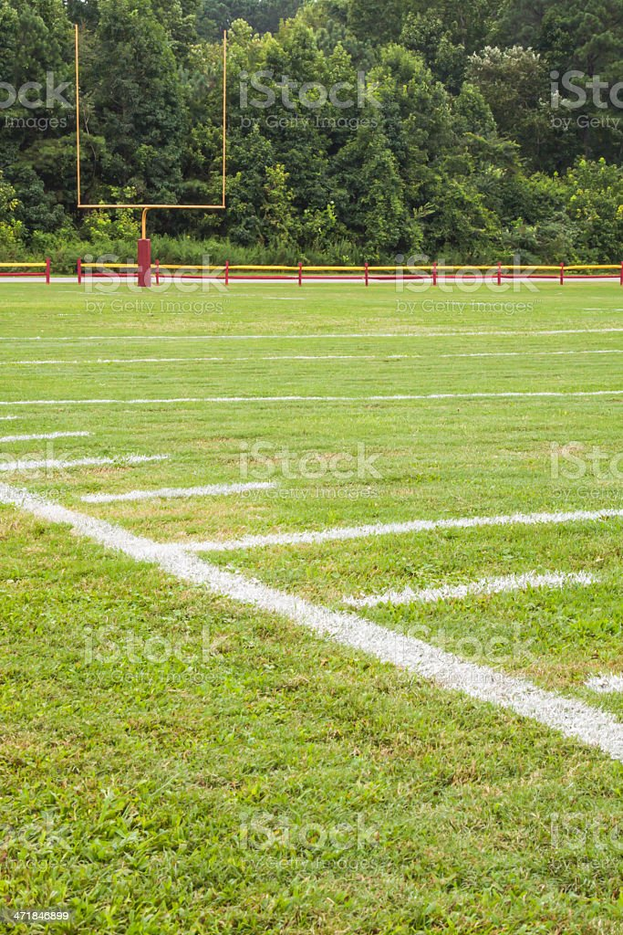 American football field royalty-free stock photo