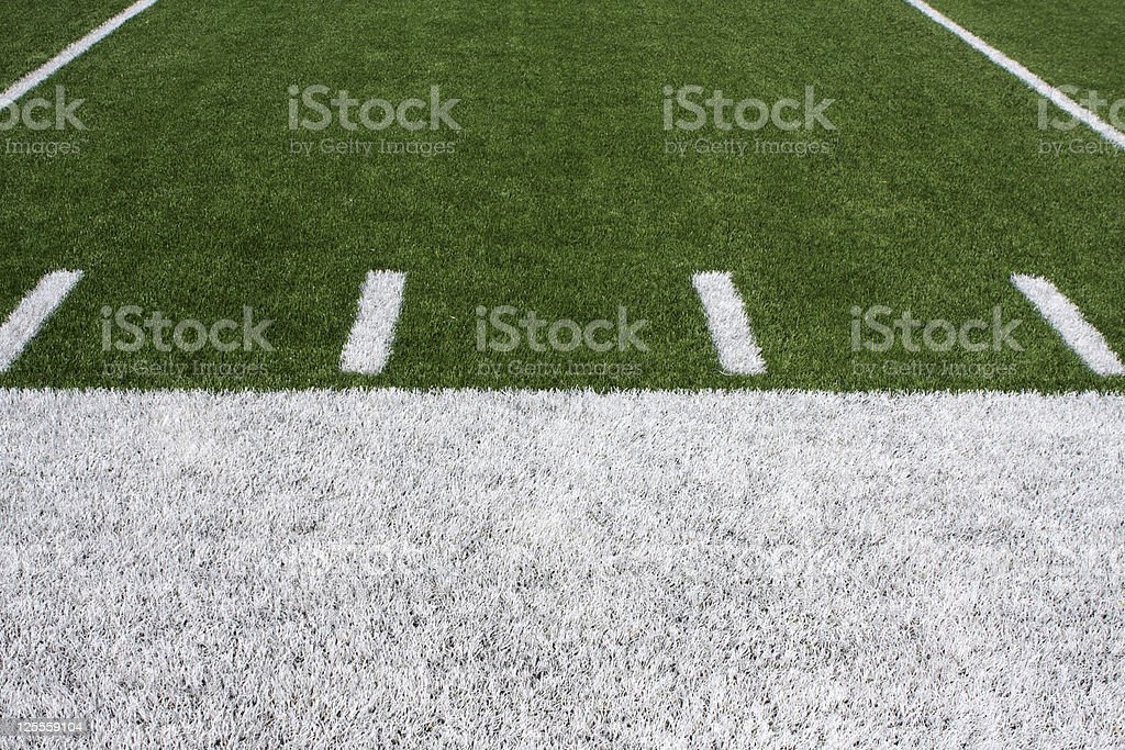 American Football Field Yard Lines royalty-free stock photo