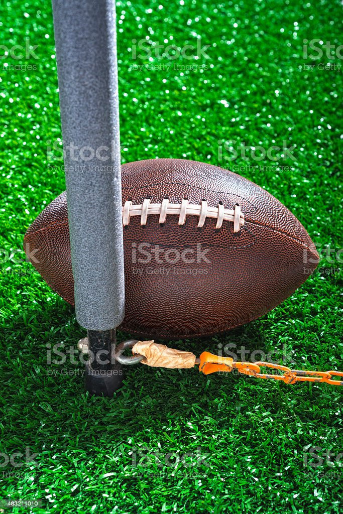 American Football first down by a nose stock photo