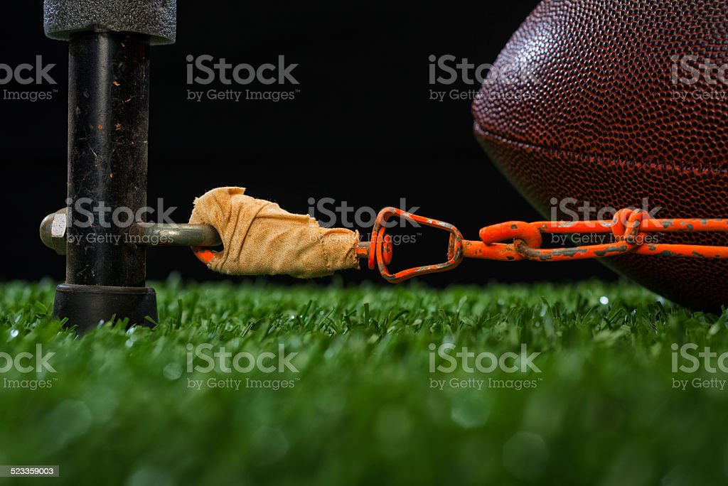 American Football - Fourth and inches stock photo