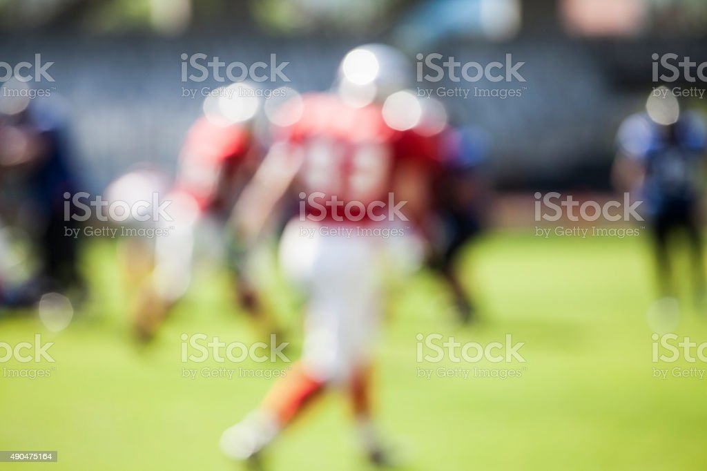 American football game - out of focus background stock photo