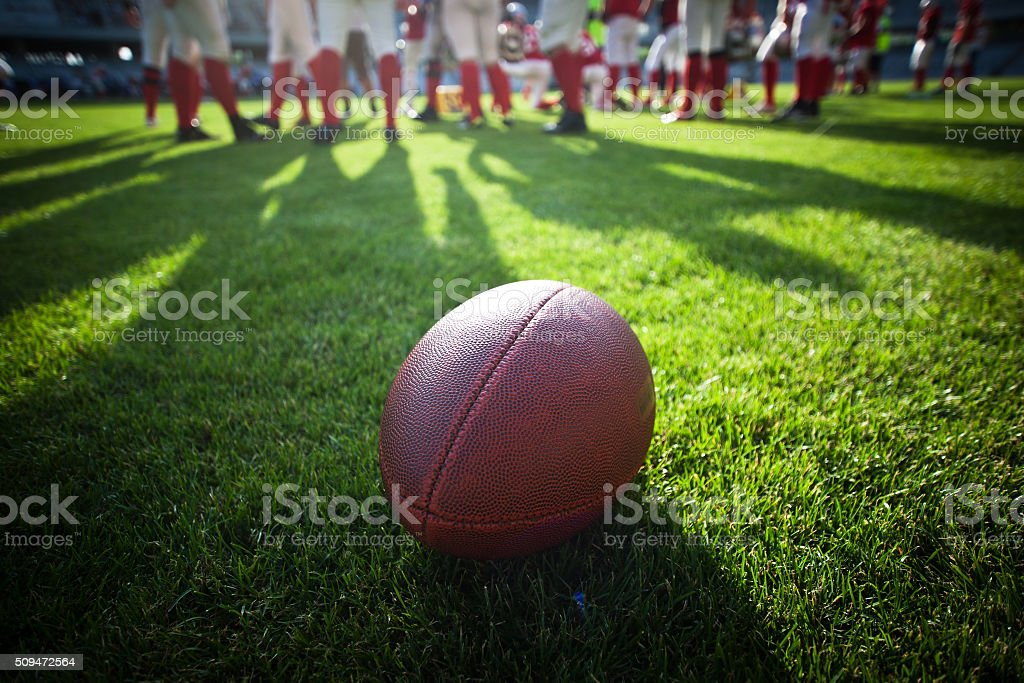 American football game stock photo