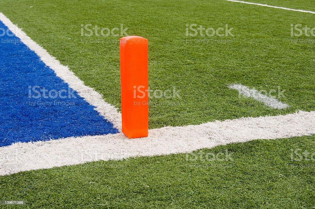 American football goal line royalty-free stock photo