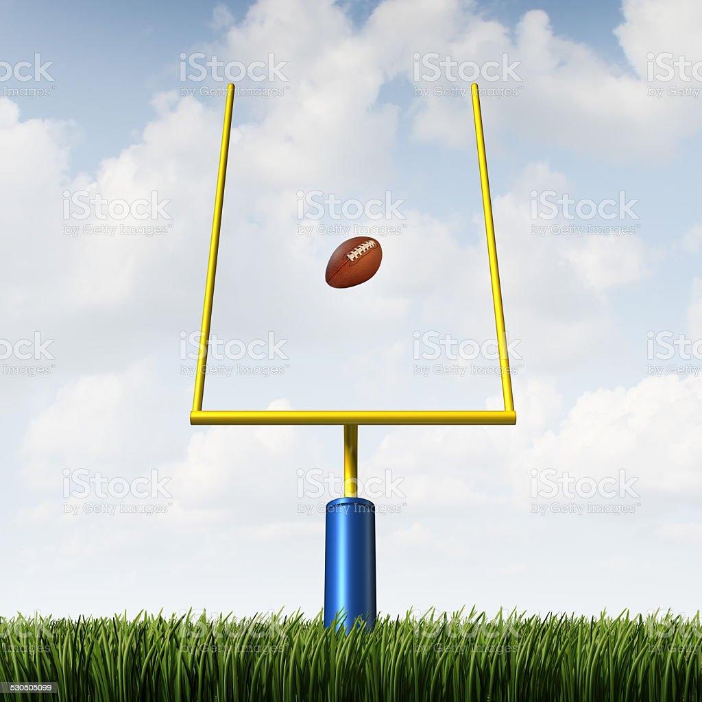 American Football Goal stock photo