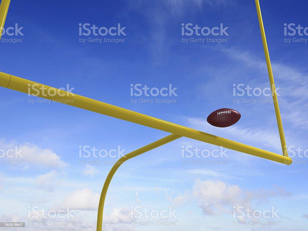 American football goal post stock photo