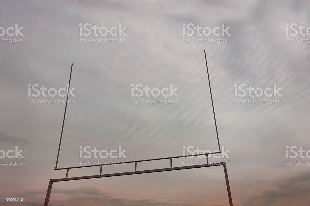 American football goalpost stock photo