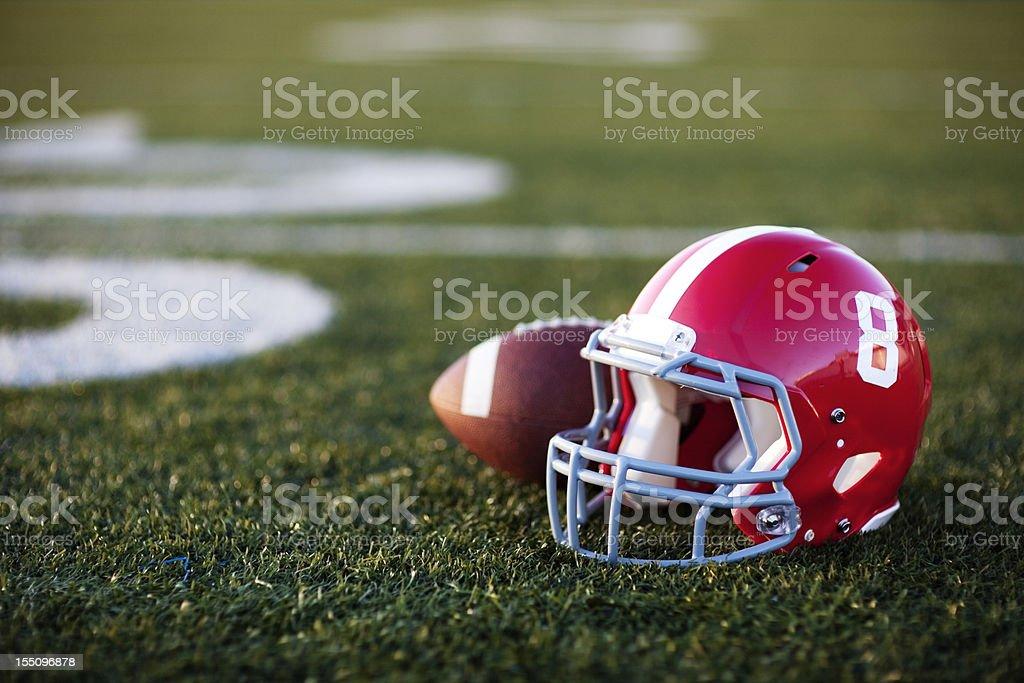American Football Helmet royalty-free stock photo