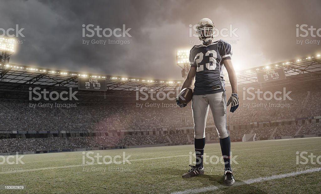 American Football Hero royalty-free stock photo