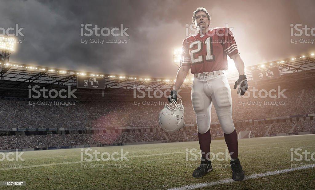 American Football Hero royalty-free stock photo