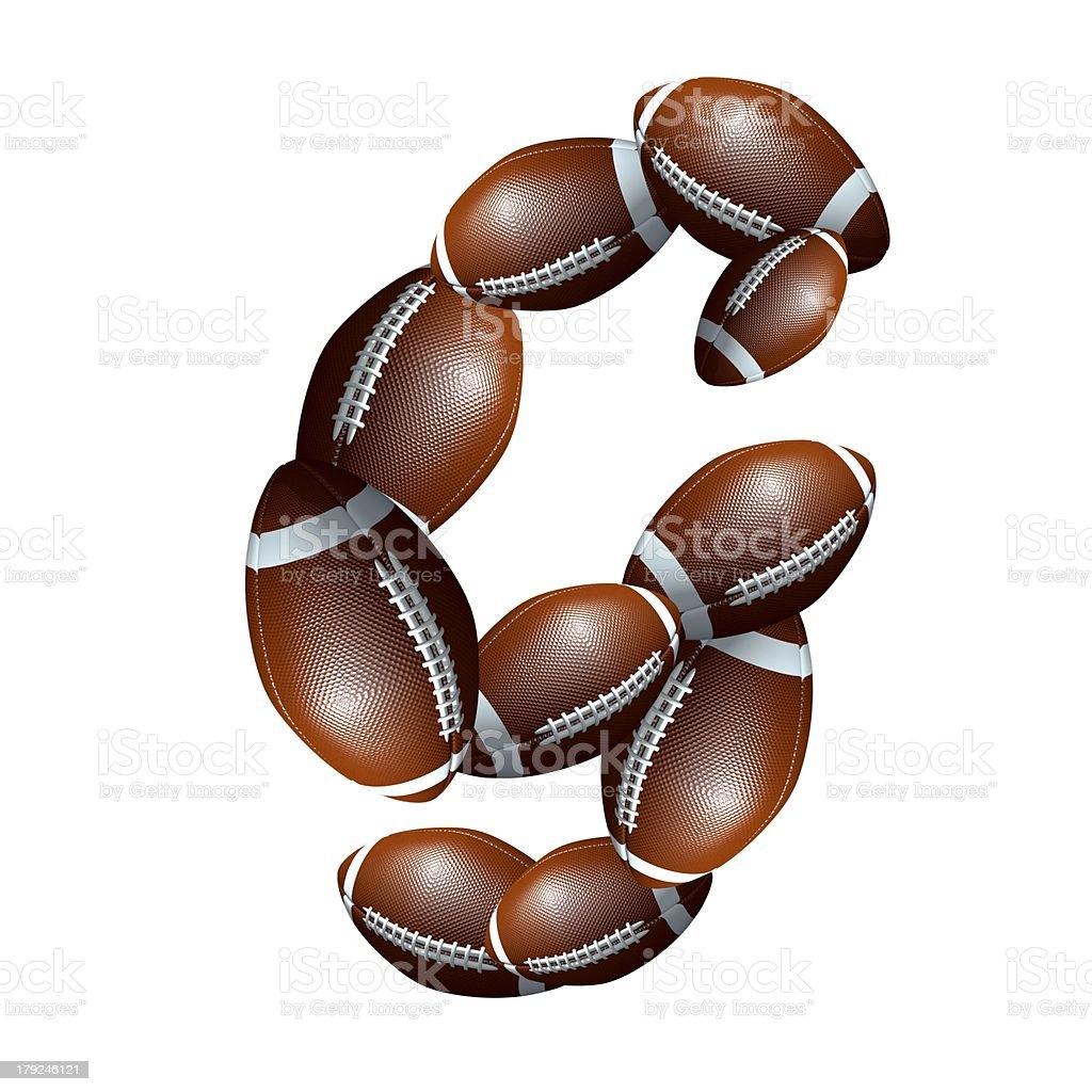 american football icon alphabet capital letter G royalty-free stock photo