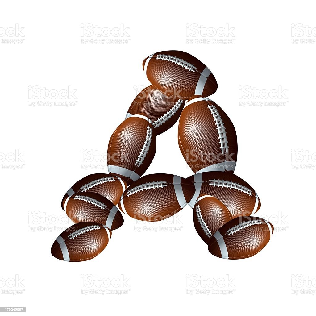 american football icon alphabet capital letter Z royalty-free stock photo