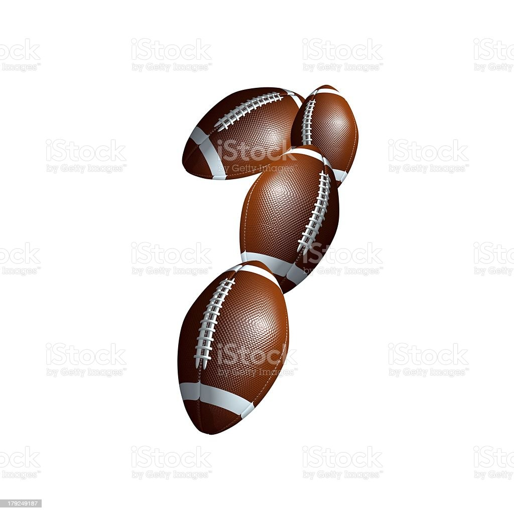american football icon number 1 royalty-free stock photo