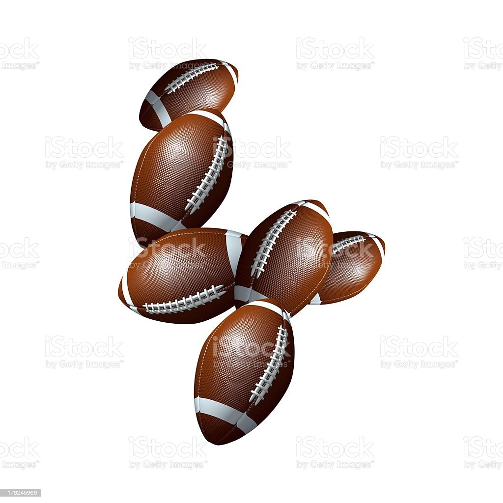 american football icon number 4 royalty-free stock photo