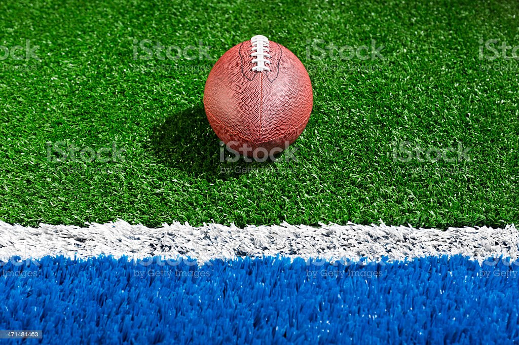 """American Football in the """"Red Zone"""" royalty-free stock photo"""