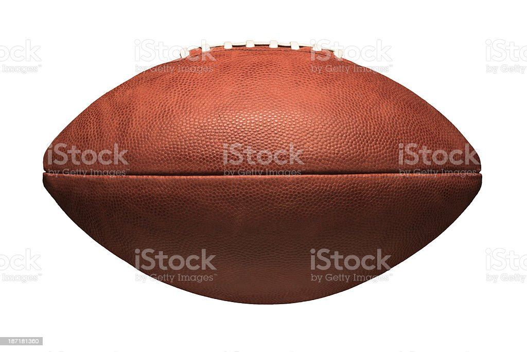 American Football Isolated on White Background stock photo