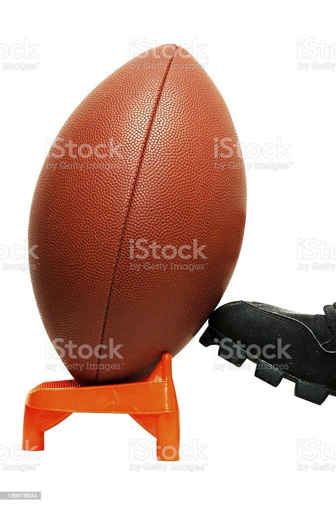 American Football Kickoff stock photo