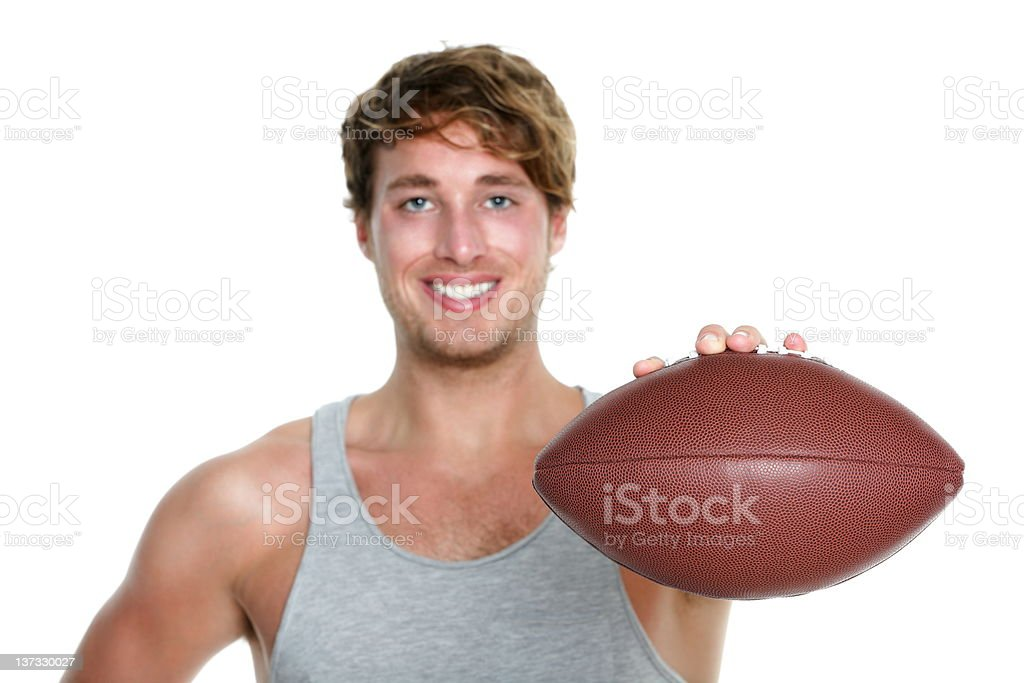 American football - man isolated royalty-free stock photo