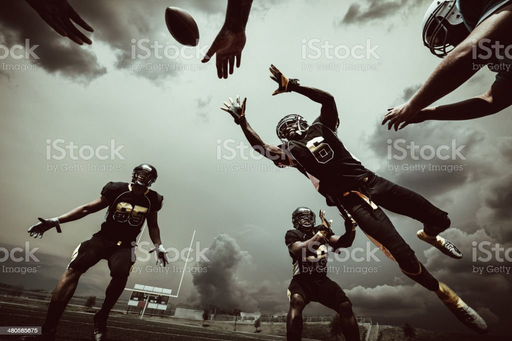 American Football Match stock photo