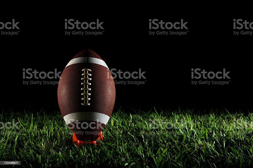 American Football on a Tee stock photo