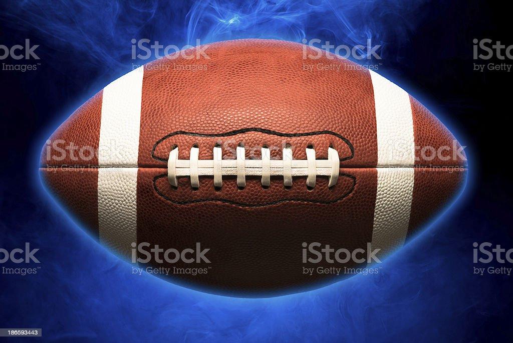 American Football on Black stock photo