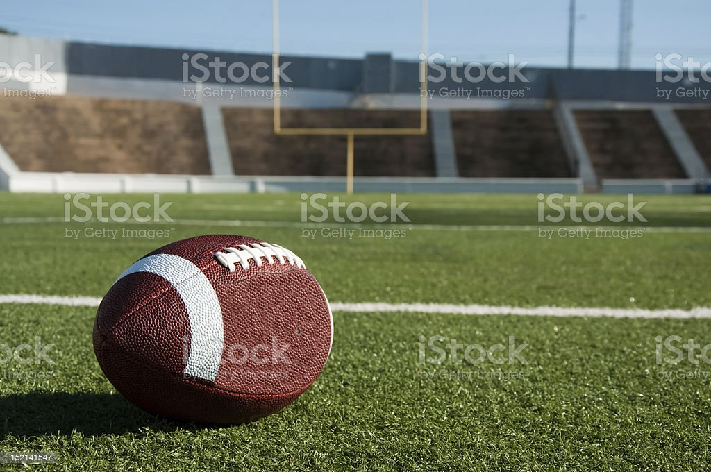 American Football on Field stock photo