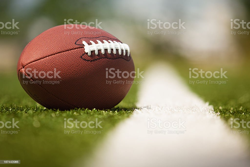 American football on the turf stock photo