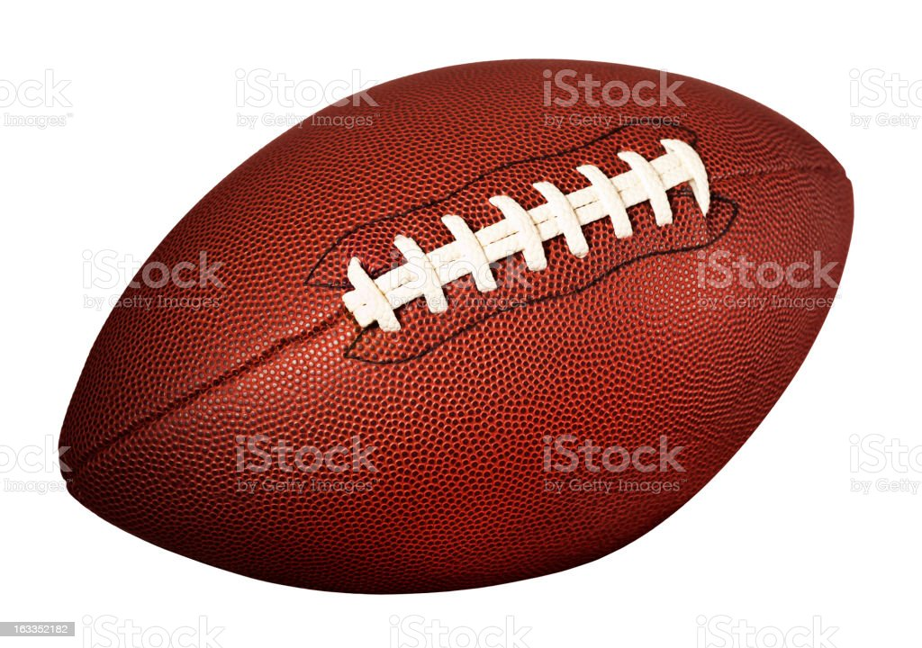 American football on white royalty-free stock photo