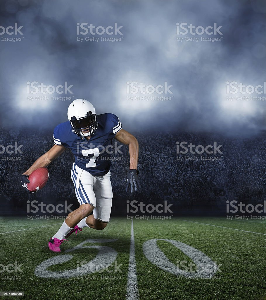 American Football Player during a game royalty-free stock photo