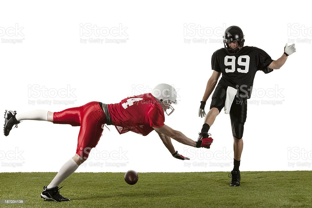 American football player in action royalty-free stock photo