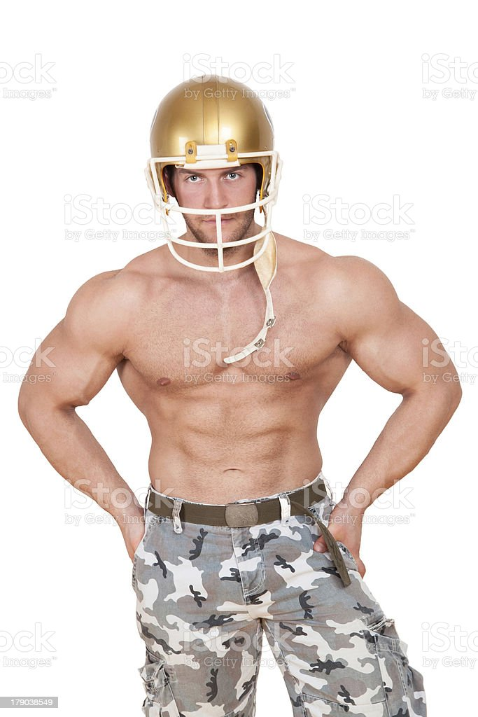 American football player isolated. royalty-free stock photo