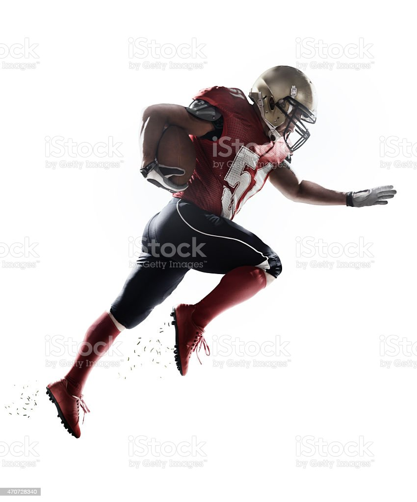 American football player isolated stock photo