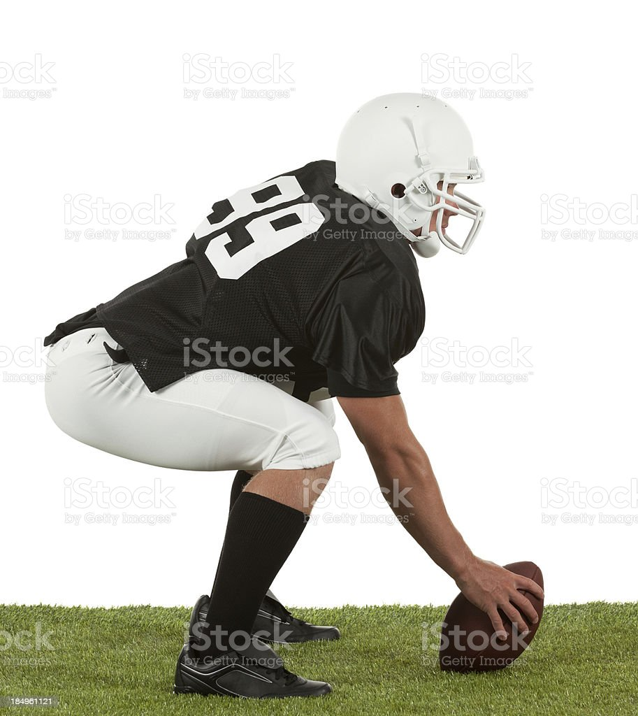 American football player on playground royalty-free stock photo
