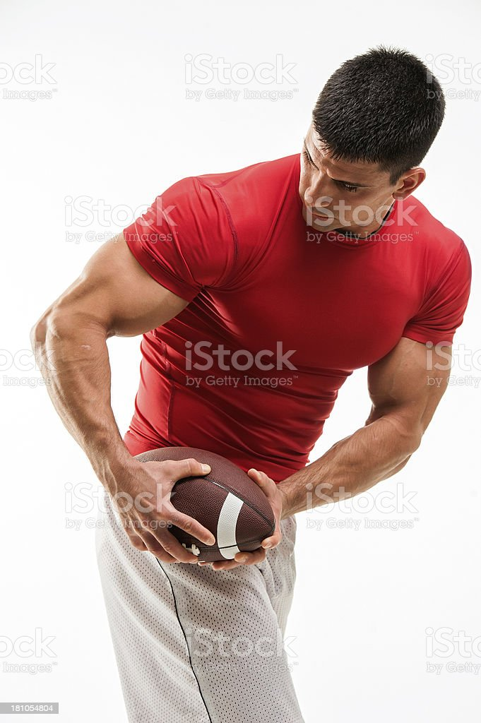 American Football Player royalty-free stock photo