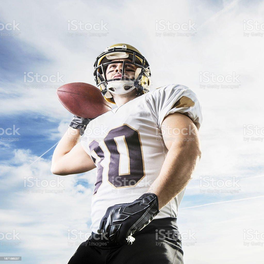 American football player. stock photo