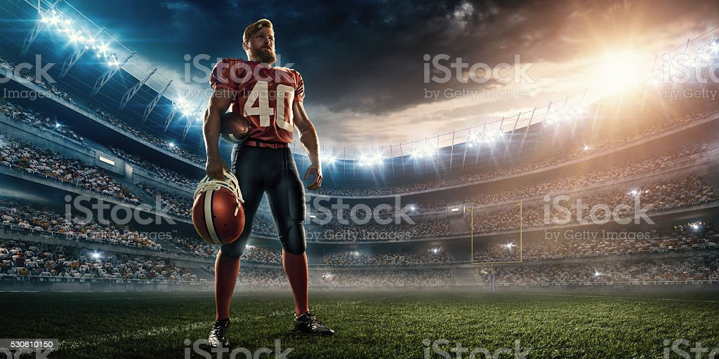 American football player stock photo